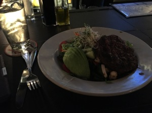 Burger Salad + Avo at Commissary