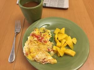 Egg/Veggie Scramble + Mango